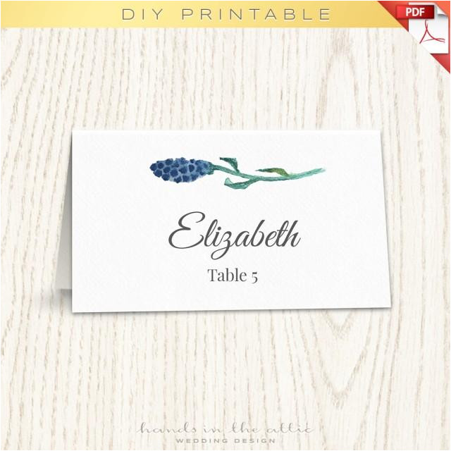 Templates for Place Cards for Weddings Floral Wedding Placecard Template Printable Escort Cards