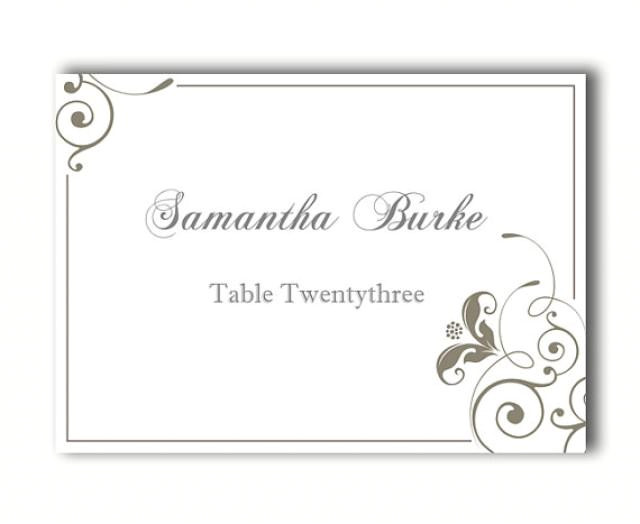 place cards wedding place card template diy editable printable place cards elegant place cards floral gray place card tented place card