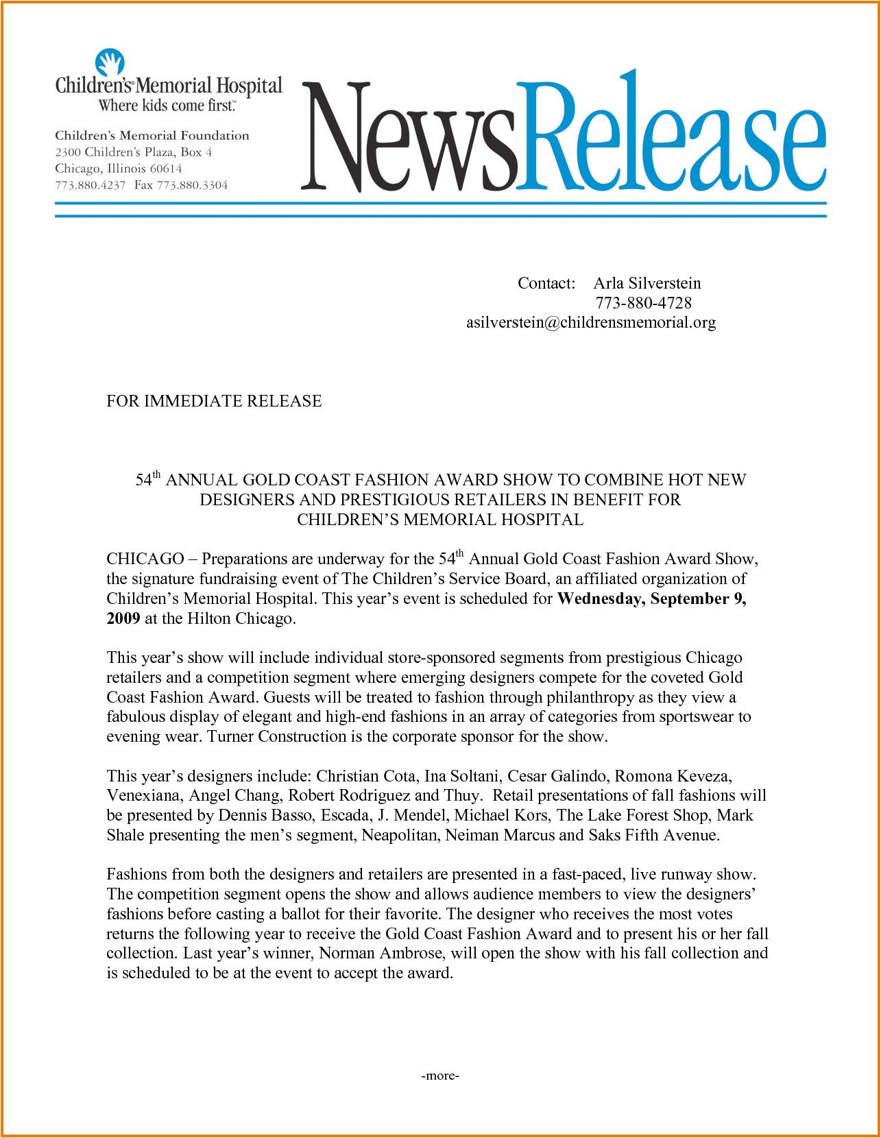 press release template 11213