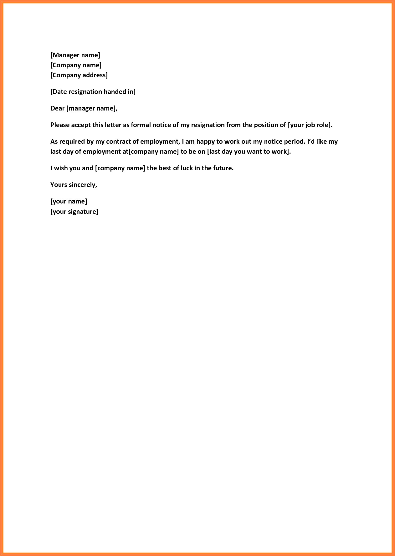 Templates for Resignation Letters Short Notice 5 Sample Letter Of Resignation Short Notice Notice Letter