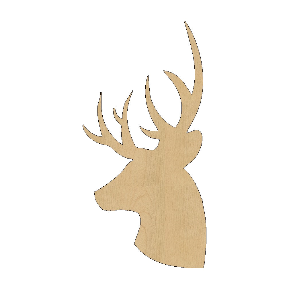 Templates for Wood Cutouts Deer Head Cutout Shape Laser Cut Unfinished Wood Shapes Craft