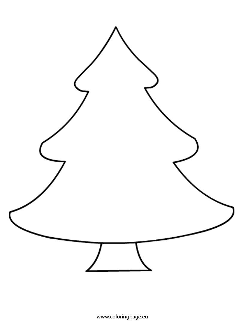 christmas tree printable template