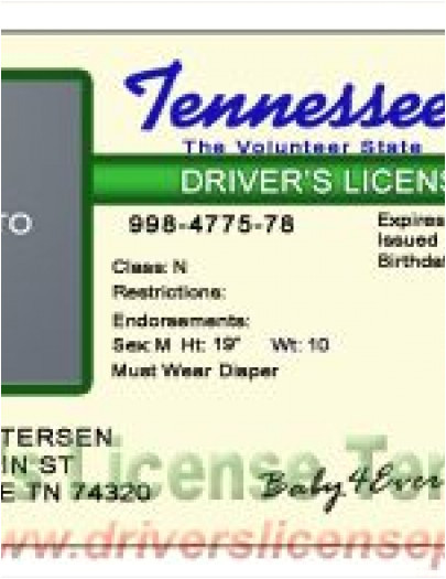 Tennessee Drivers License Template Drivers License Fake Drivers License Drivers License