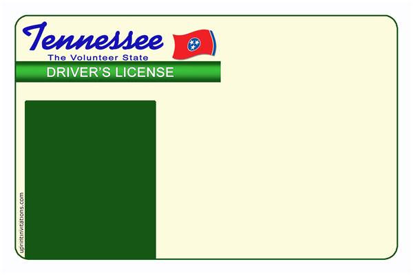 oi tennessee drivers license template