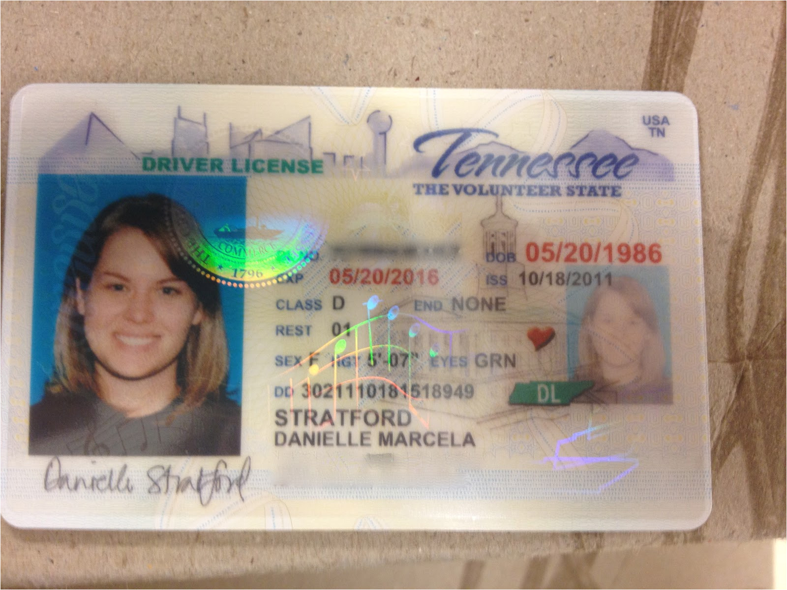 Tennessee Drivers License Template Tn Drivers License Food Stamps Texas