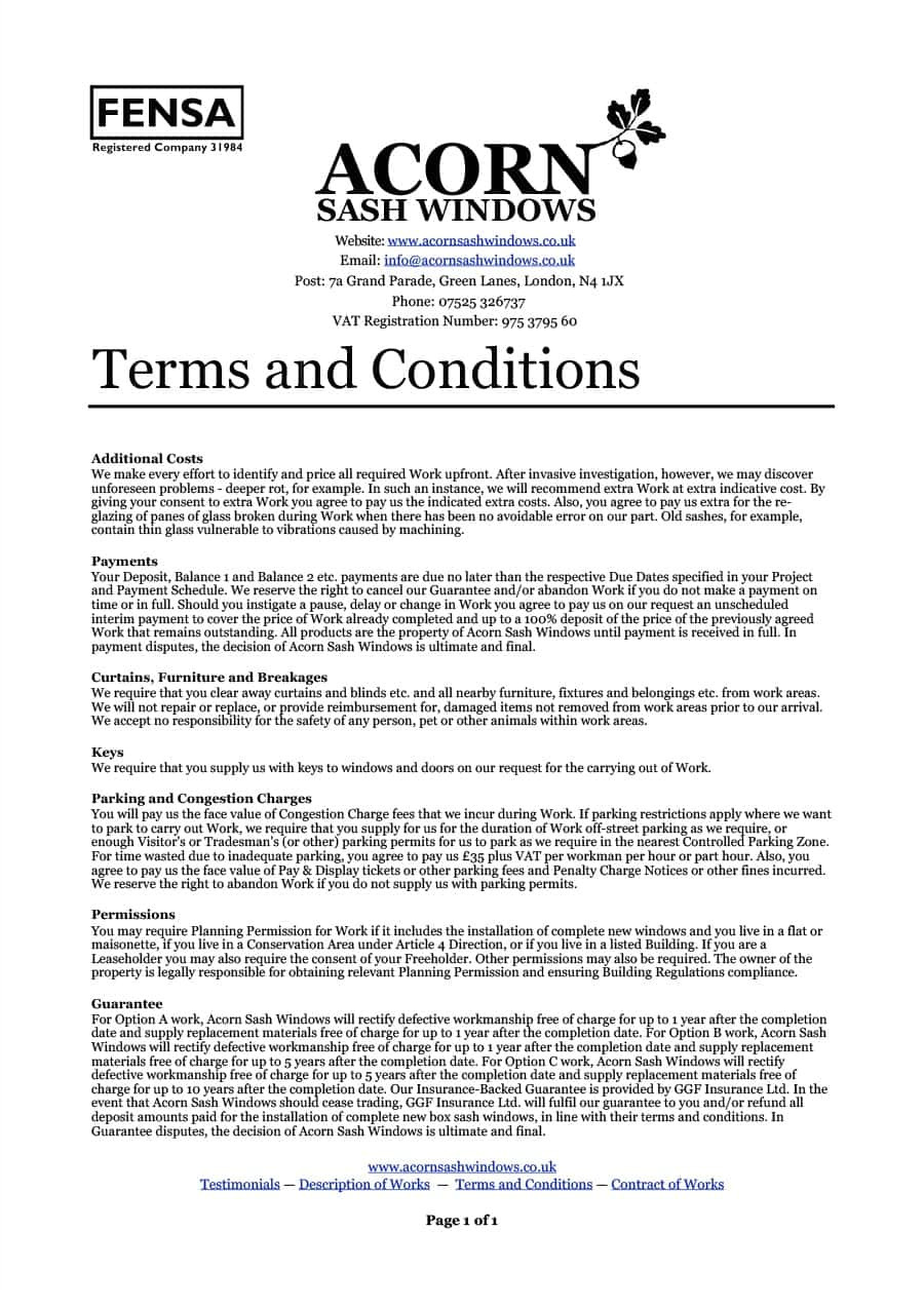 terms and conditions templates