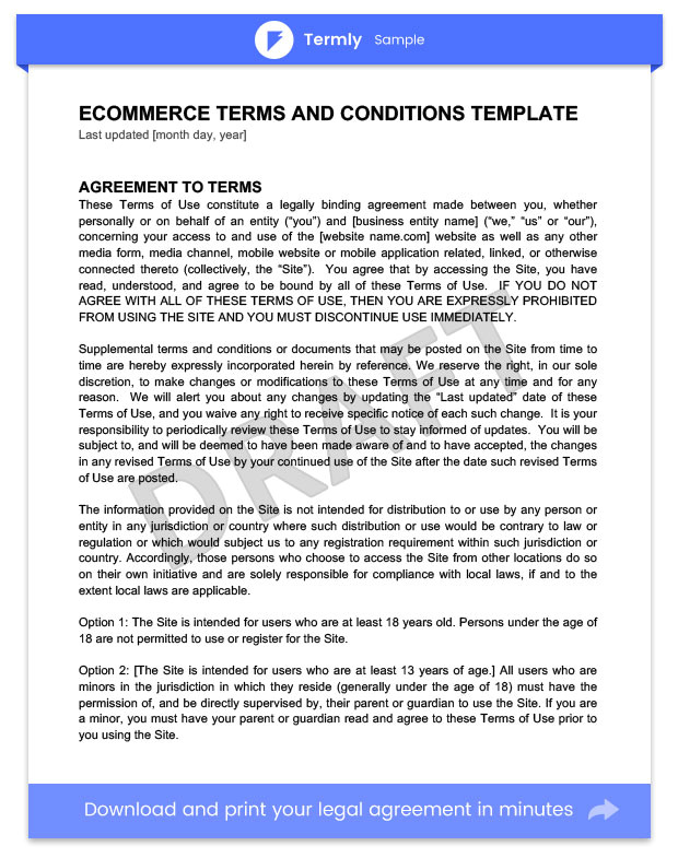 sample terms and conditions templates guide
