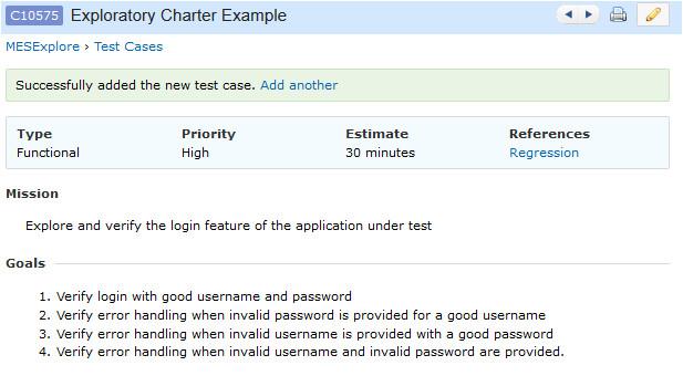 Test Charter Template A Beginning to Exploratory software Testing Lendingtree