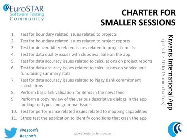 test charter template