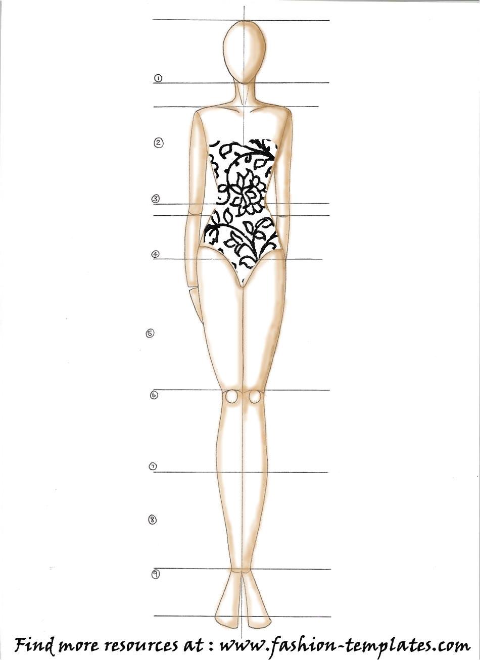 Textiles Body Templates Portfolio 101 Sketching thefashionpond