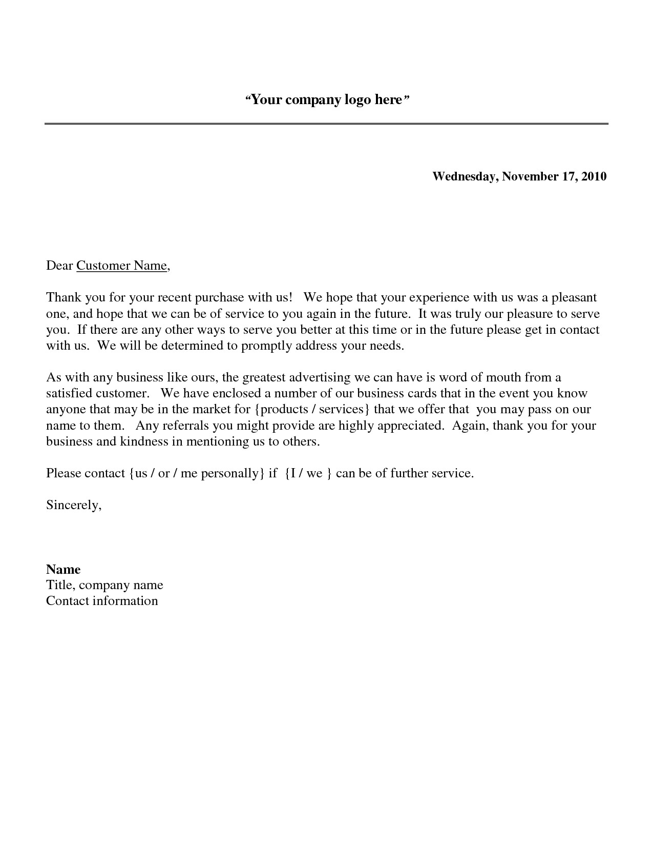 Thank You for Your Business Email Template Business Letter Thank You for Your Business the Letter