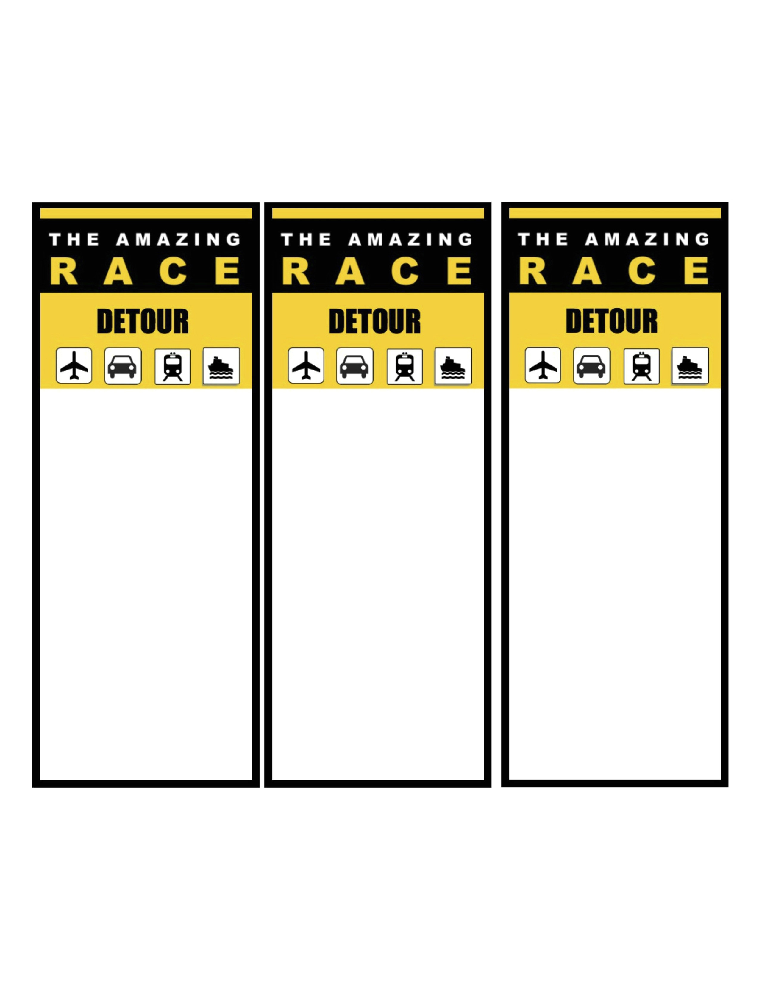 amazing race party printables thank you