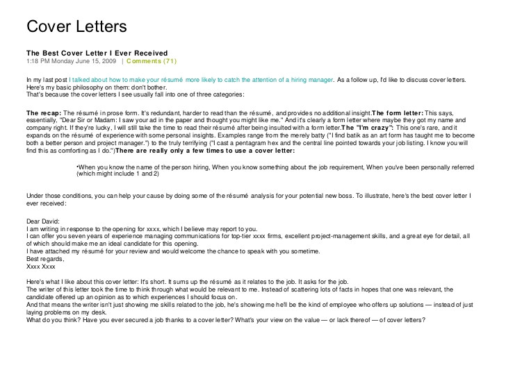 The Best Cover Letter Ever Written Best Cover Letter Ever Written Harvard Sat Essay Help
