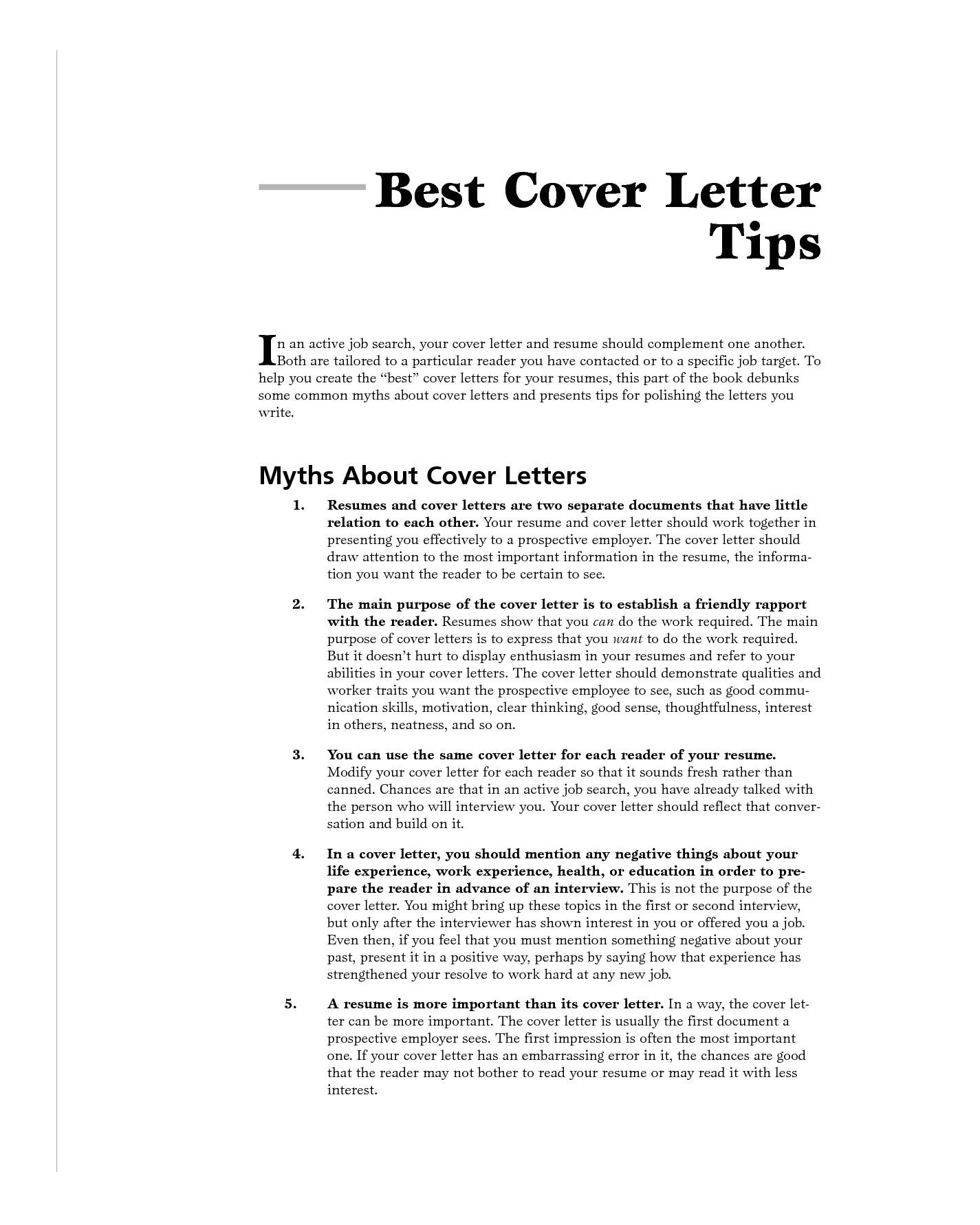 The Importance Of Cover Letters Importance Of Writing Cover Letter and Resume