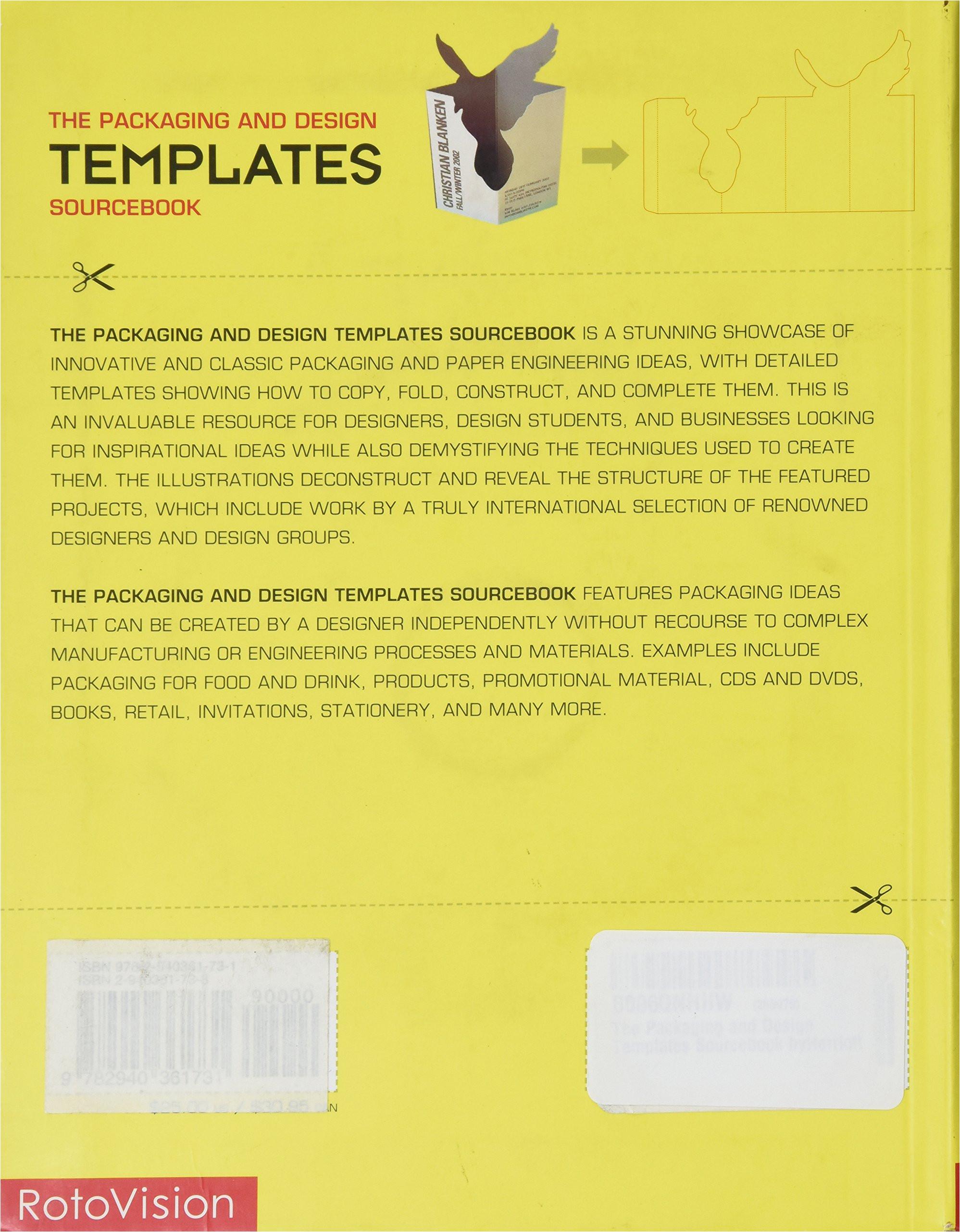 packaging design templates sourcebook
