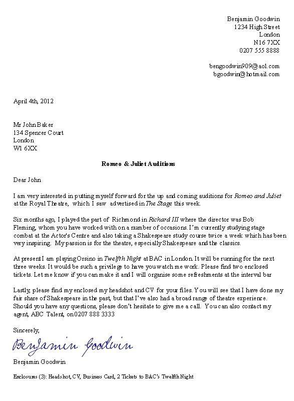 cover letter for uk