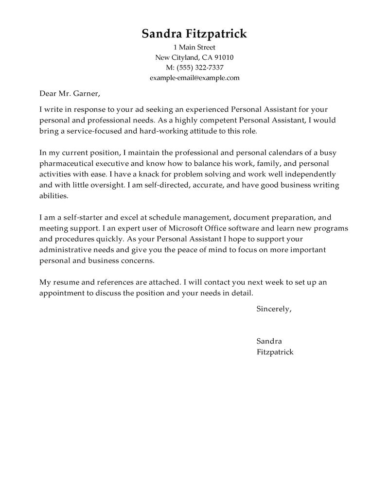 perfect cover letter samples