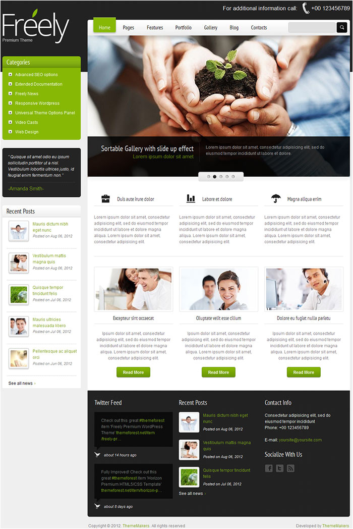 freely theme by themeforest