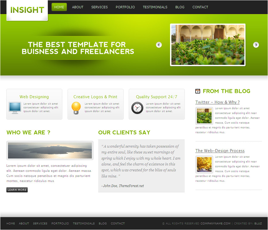 Theme forest Templates Insight themeforest Template by Bluz1 On Deviantart