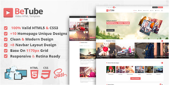 themeforest betube download video html template