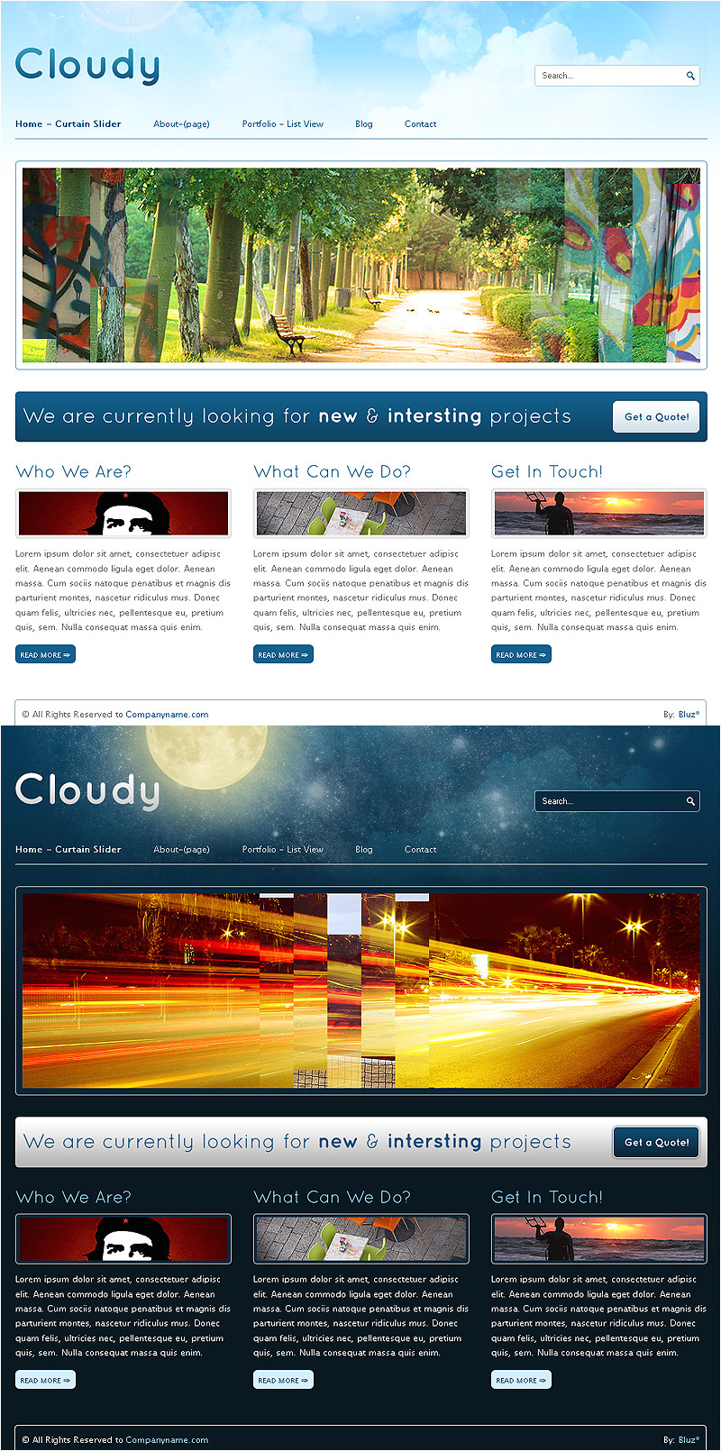 cloudy themeforest template 166350115