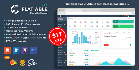 themeforest flat able bootstrap 4 admin html template