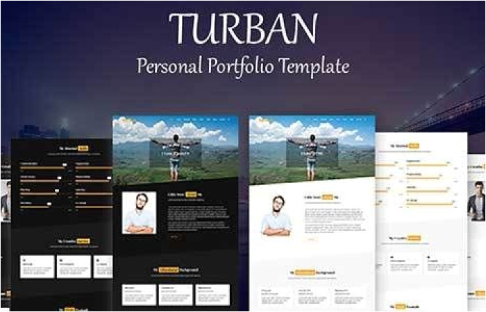 Themeforest Login Template themeforest Turban Personal Portfolio Template