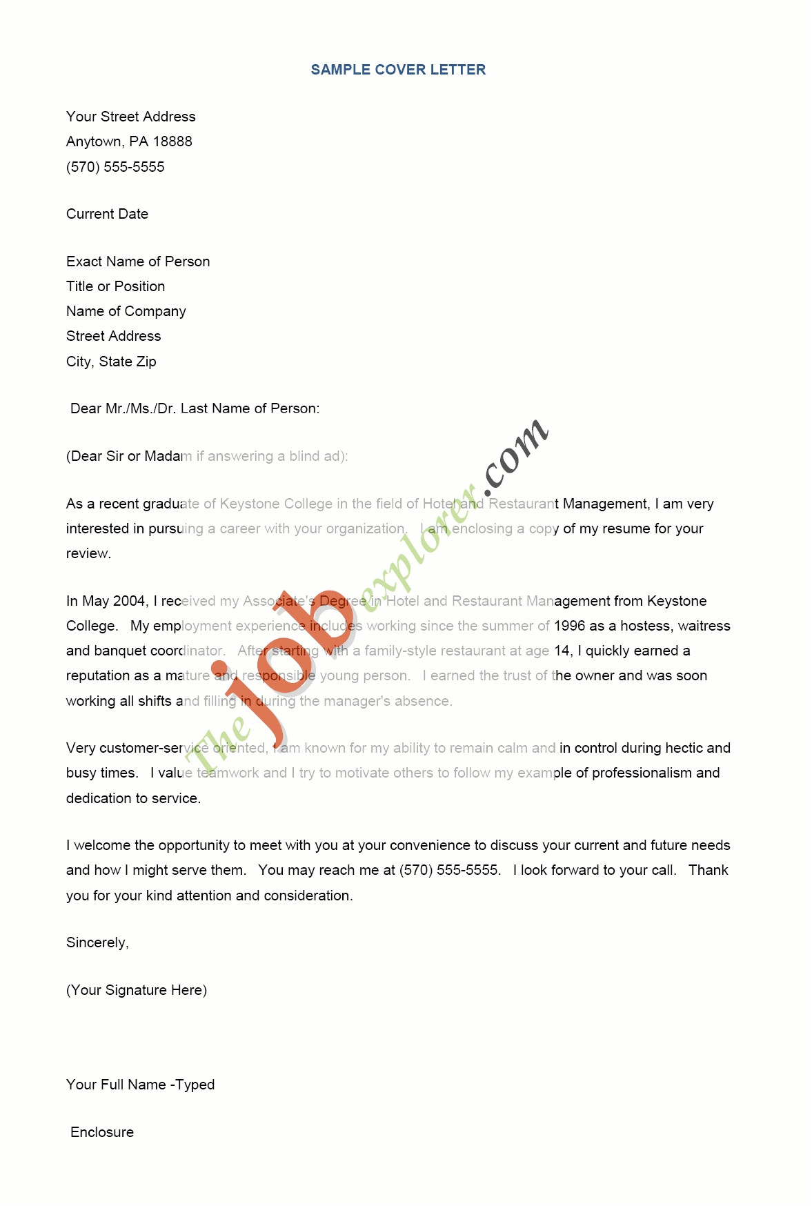 things to say in a cover letter for a job