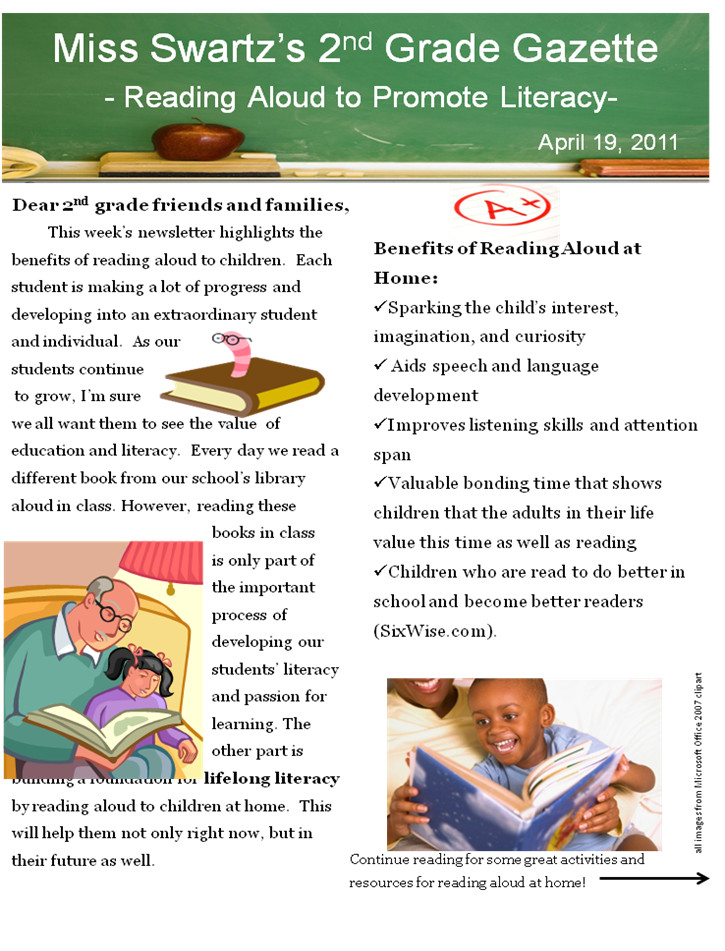 Third Grade Newsletter Template Best Photos Of Second Grade Classroom Newsletter Template