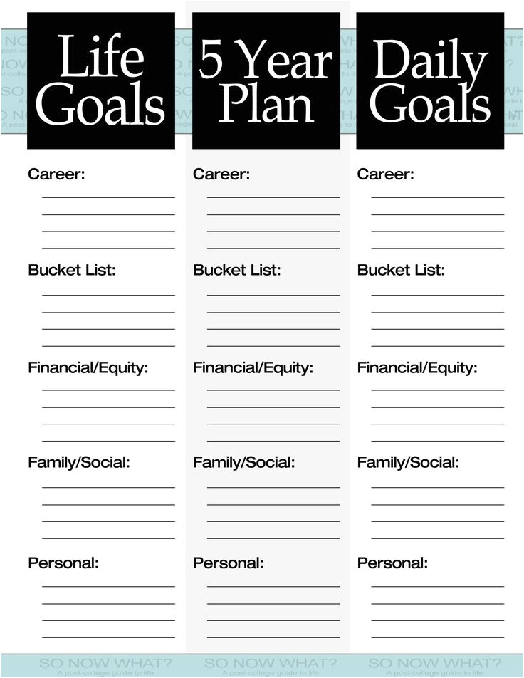 This is Your Life Template the 3 Steps to A 5 Year Plan Filing Goal and Journal