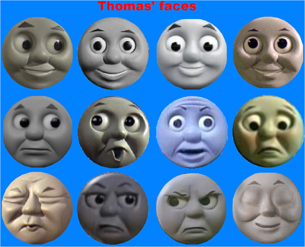 Thomas the Tank Engine Face Template Thomas 39 Faces by Grantgman On Deviantart