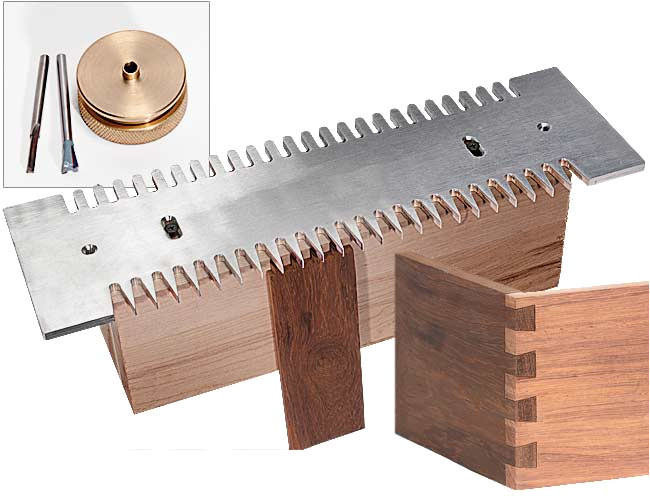 dovetail pins and tails