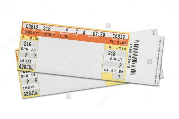 ticket templates psd