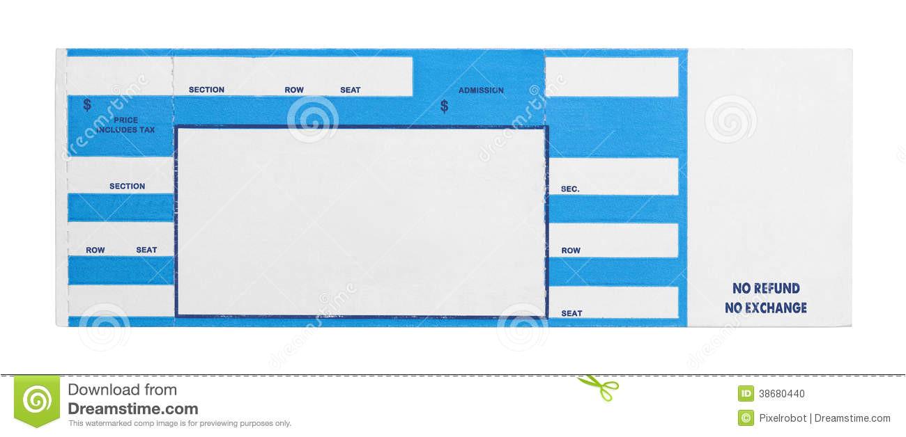 blank concert ticket clipart
