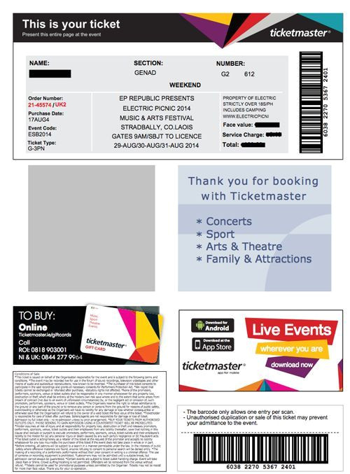 ticketmaster ticketfast barcode format