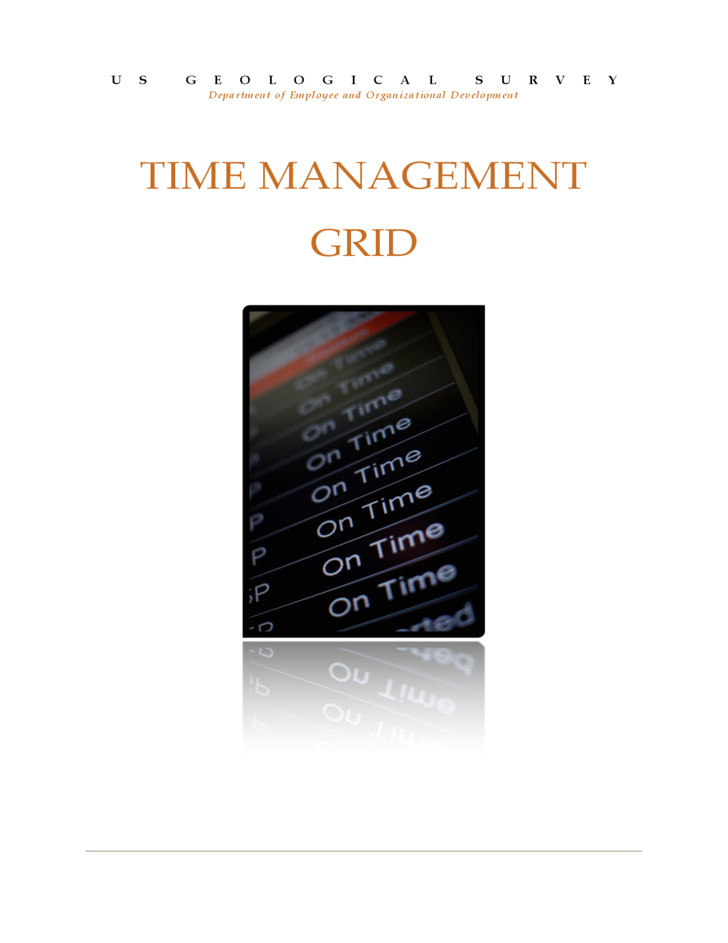 free time management grid template