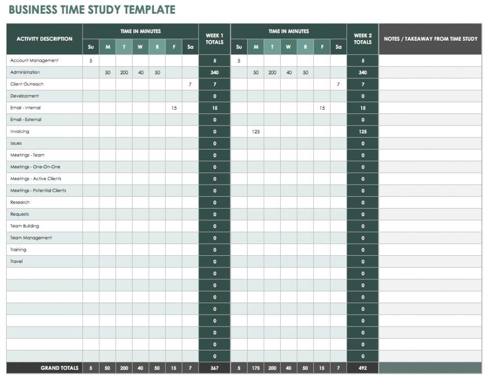 Time Studies Template 28 Free Time Management Worksheets Smartsheet