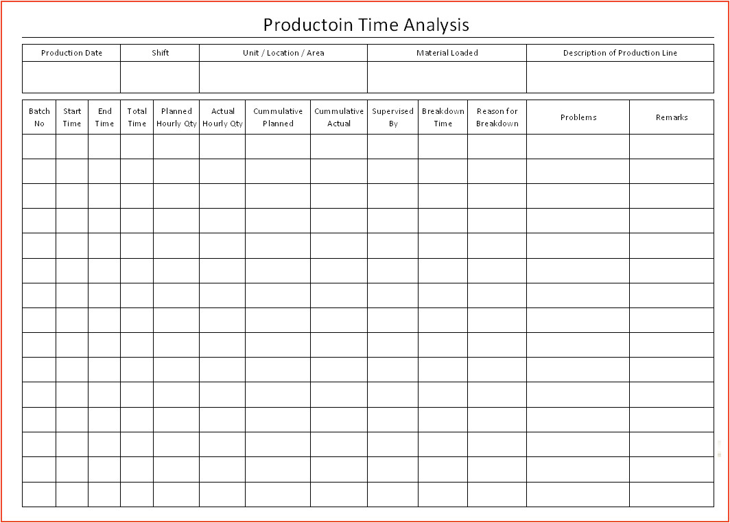 time study template 2