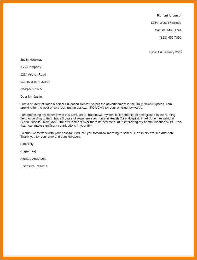 9 short cover letter for job application