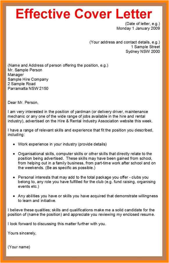 9 write an application letter for a job