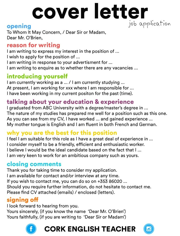 tips for writing a cover letter for a job