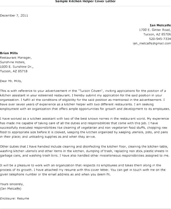 tips to writing a cover letter