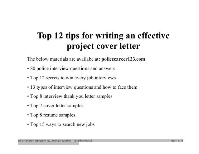 top 12 tips for writing an effective project cover letter 38732497