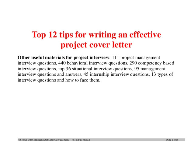 top 12 tips for writing an effective project cover letter