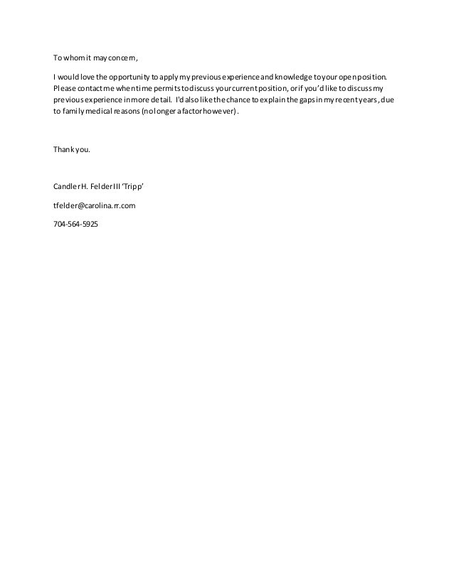 To whom It May Concern In A Cover Letter Cover Letter to whom It May Concern