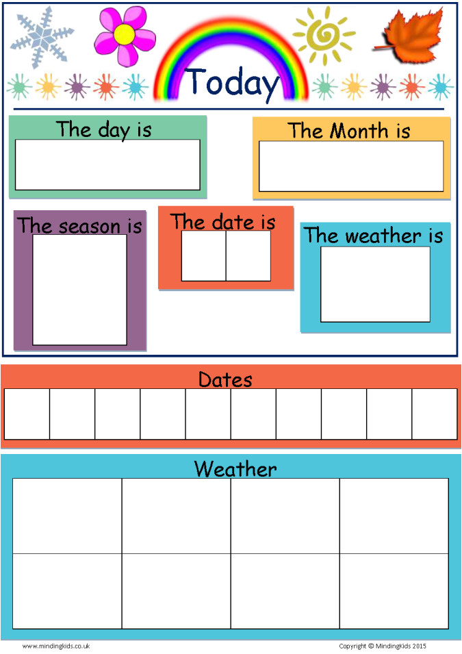 today is dates weather seasons chart