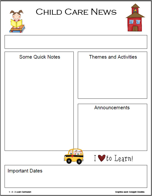 Toddler Newsletter Template 8 Best Images Of Monthly Newsletter Template Printables