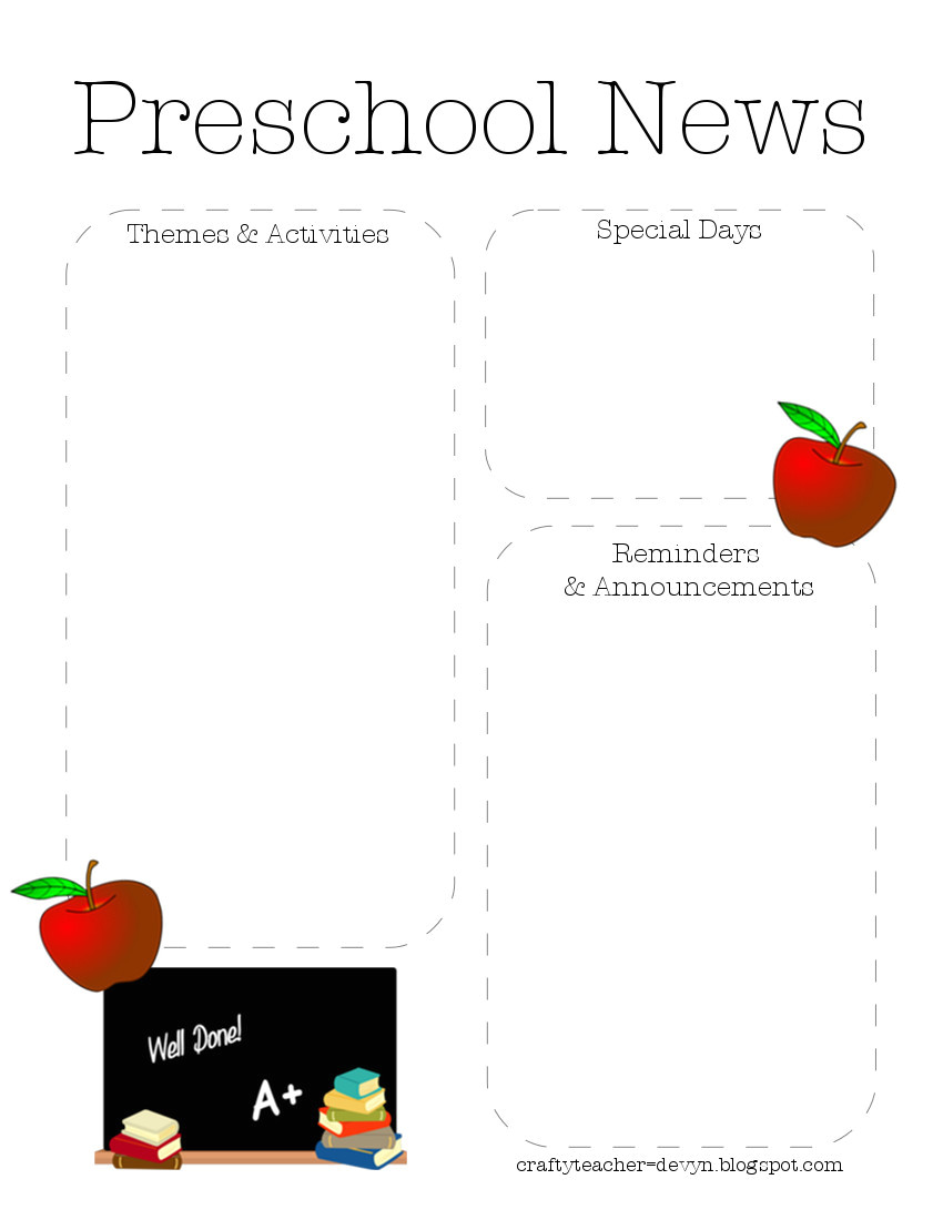 Toddler Newsletter Template Preschool Newsletter Quotes Quotesgram