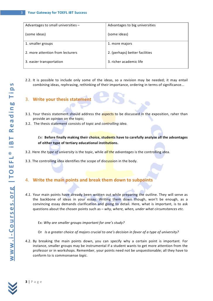 sample essay topics for toefl ibt
