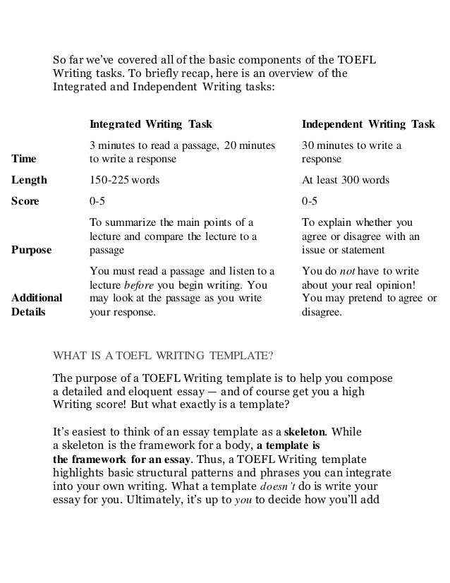Toefl Writing Templates the Best toefl Writing Templates for Any Prompt